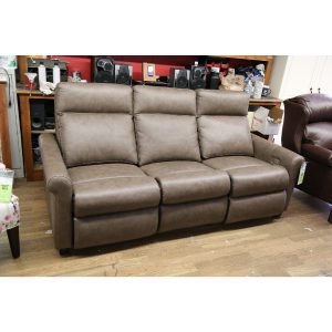Gray Leather Motion Reclining Sofa