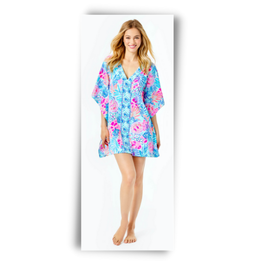 Lilly Pulitzer cover up for the beach or boat.