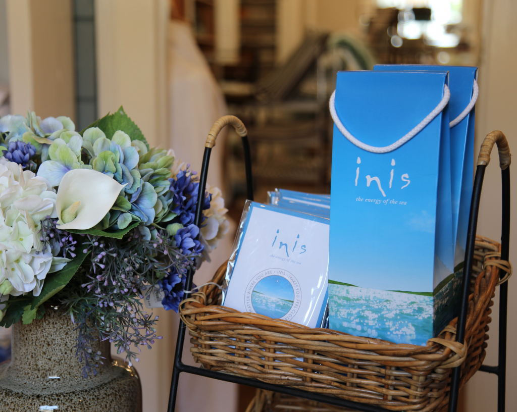 Inis skin care products inspired by the sea.